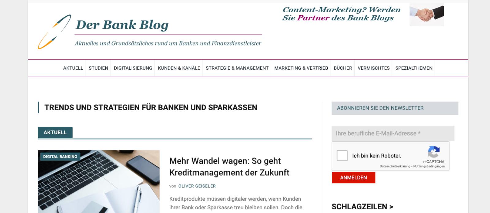 zum Banken Blog